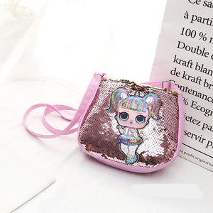 Cartoon Sequins Children's Handbag Baby Girl Coin Purse Mini Crossbody Bags for Girls Shoulder Messenger Bag Pink Bolso Infantil