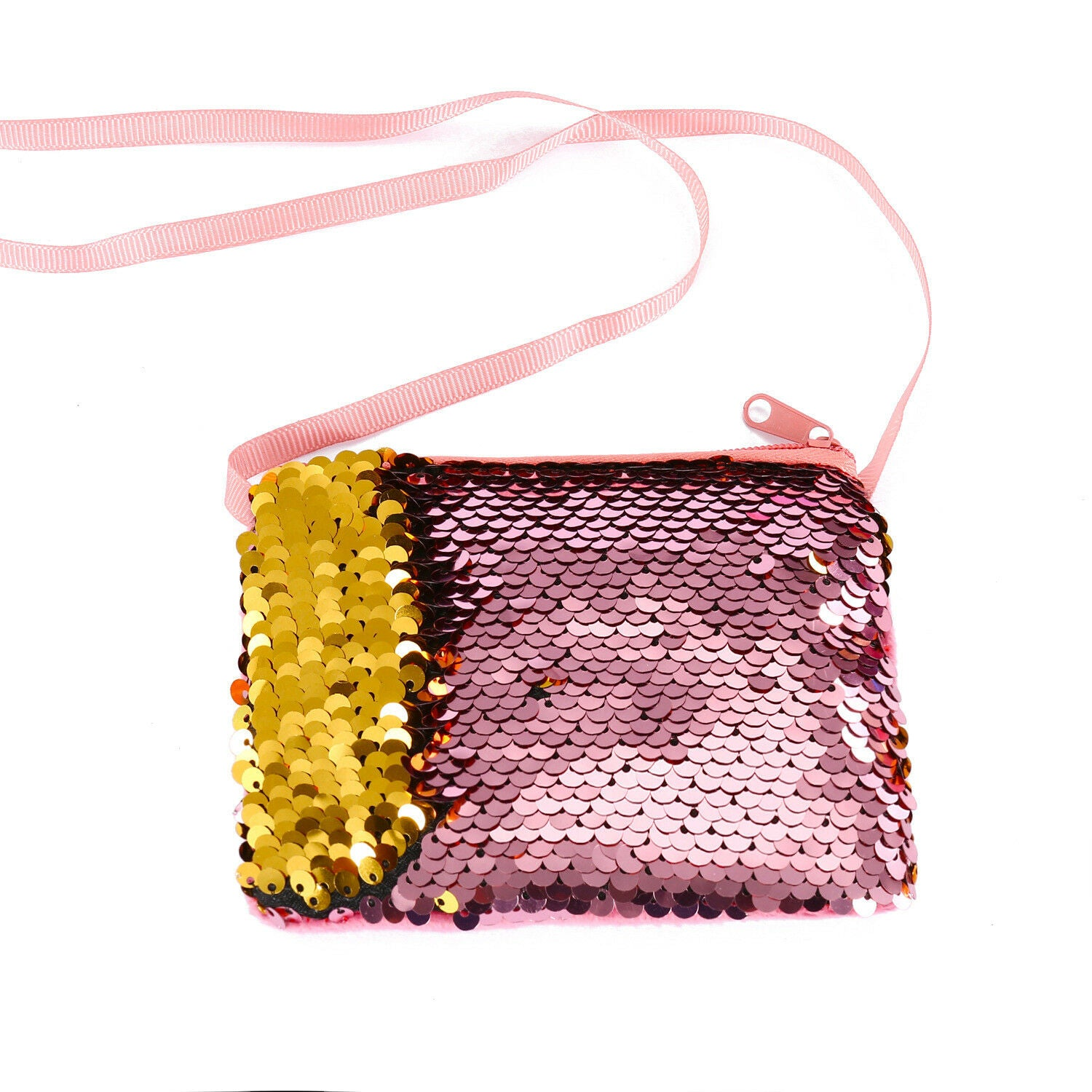 Baby Sequins Coin Purse Change Wallet Kids Pouch Glittering Clutch Bags Satchel Blue Pink Purple Red Yellow Champagne