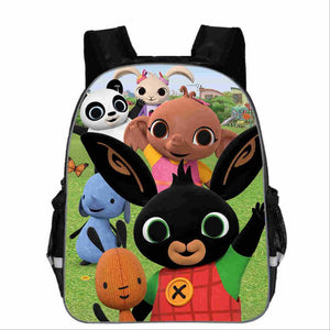 Bing Bunny Print Backpack School Boys Girls Children Book Bag Cartoon Baby Girl Backpack cartable enfant Kindergarten Bag