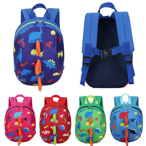 New Cute Dinosaur Baby Safety Harness Backpack Toddler Anti-lost Bag Children Durable Sturdy Comfortable Schoolbag with Reins