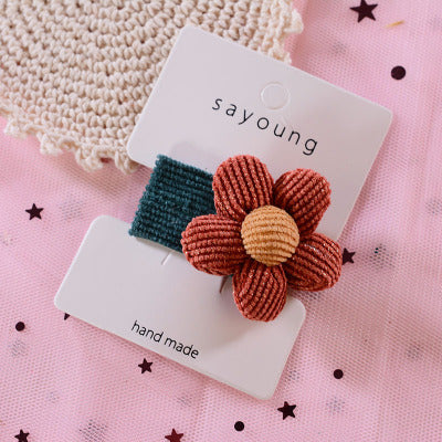 Cute Baby Girl Hairpin Hair Ball Design Princess Hairpin Accessories Plush Decorative Sequins Convenient For Little Girls