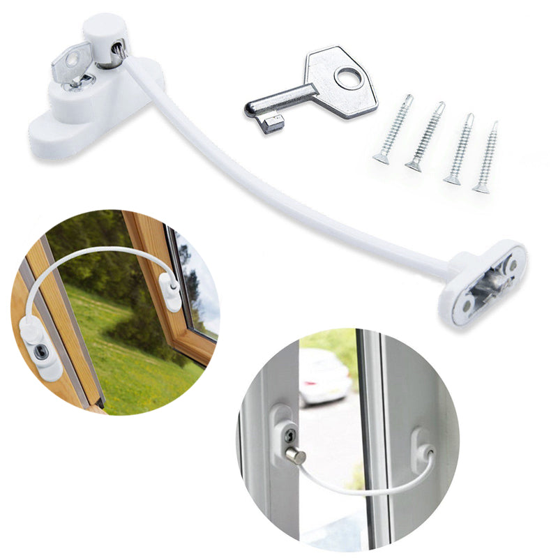 1/2/4 Pcs Window Door Restrictor Security Locking Cable Wire Child Baby Safety Lock 2018