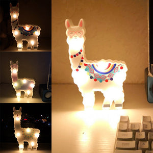 Llama Decor Toys for Kids Wall Decoration Night Lamp for Pregnant Woman, Kids, Baby Shower, Nursery, Battery Operated Nightlight