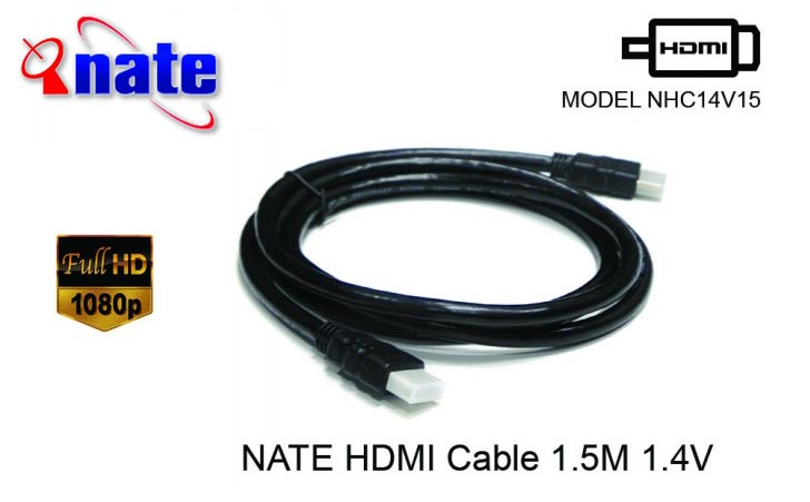 NATE HDMI CABLE FULL HD 1.5Meter 1.4V