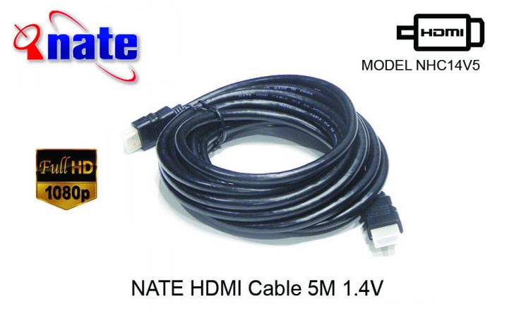 NATE HDMI CABLE FULL HD 5 Meter 1.4V