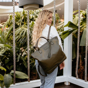 ARCH LUXE Diaper Bag - Vegan Olive