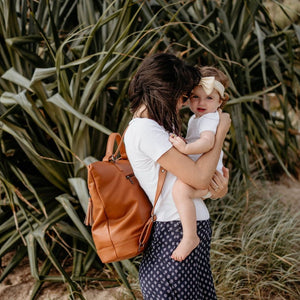 ARCH LUXE Diaper Bag - Vegan Tan