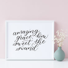 "Load image into Gallery viewer, ""Amazing Grace"" wall art - Greater Joy Design"