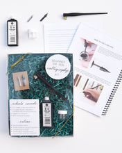 Load image into Gallery viewer, Beginner Dip Pen Calligraphy Kit - Supplies and Workbook
