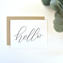 "Load image into Gallery viewer, ""Hello"" greeting card"