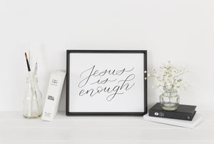 """Jesus is enough"" wall art - Greater Joy Design"