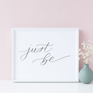 """Just be"" wall art - Greater Joy Design"