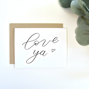 """Love ya"" greeting card"