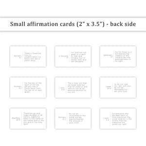Bible verse affirmation cards - small