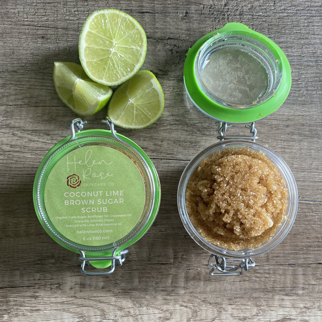 Coconut Lime Brown Sugar Body Scrub - Helen Rose Skincare