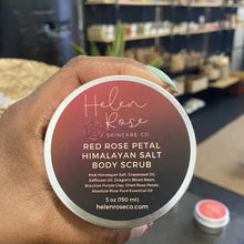 Load image into Gallery viewer, Red Rose Petal Himalayan Salt Body Scrub - Helen Rose Skincare