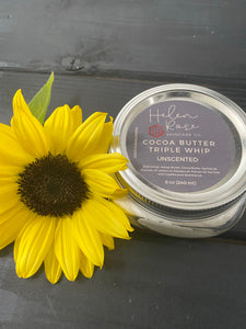 Cocoa Butter Triple Whip Butter 8 oz - Choose Your Scent - Helen Rose Skincare