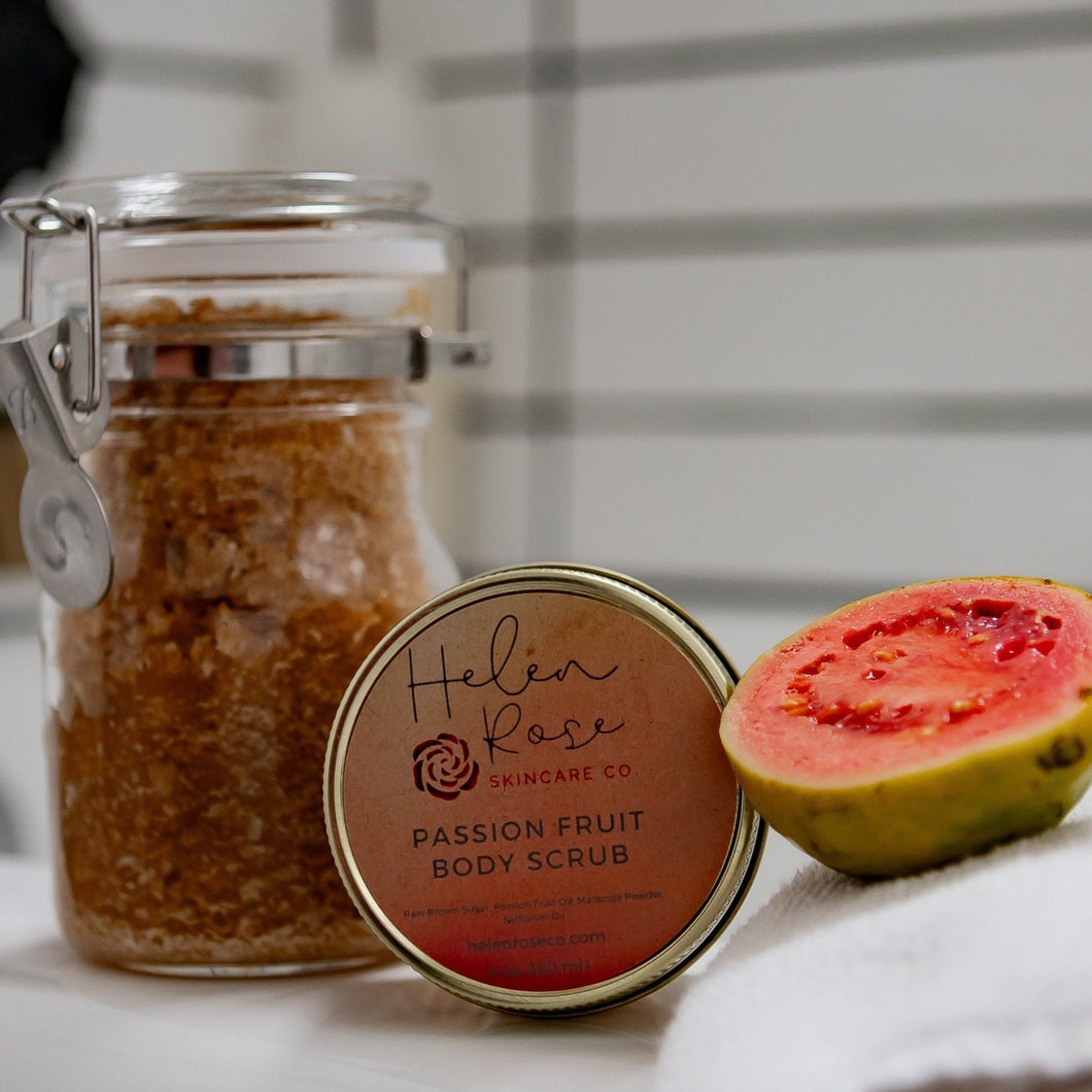 Passion Fruit Brown Sugar Body Scrub - Helen Rose Skincare