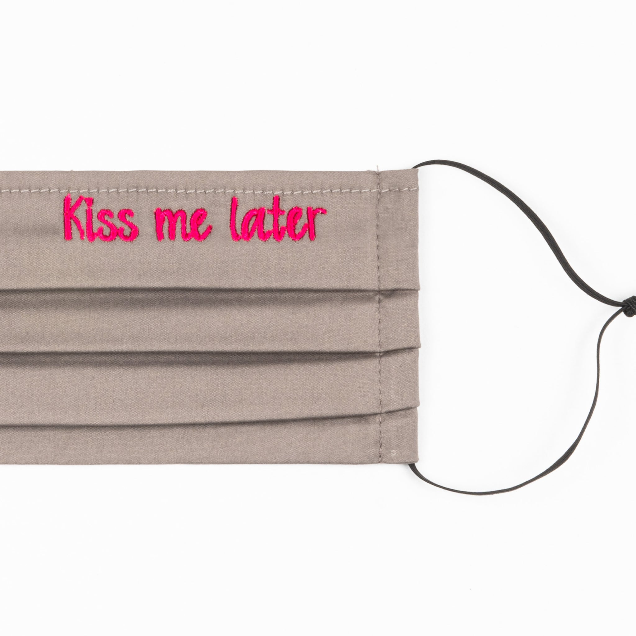 Kiss me later - masque brodé