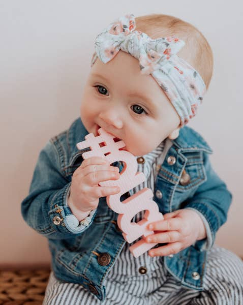 Silicone Teether #Ouch -Pink