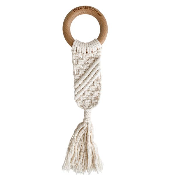 Macrame Teether - Cream