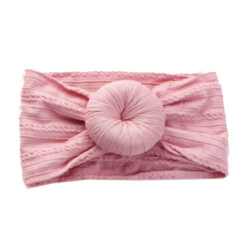 Headband - Dusty Rose Knit Bun