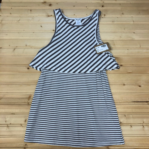 Grey Striped Dress