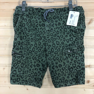 Green Cheetah Print Shorts