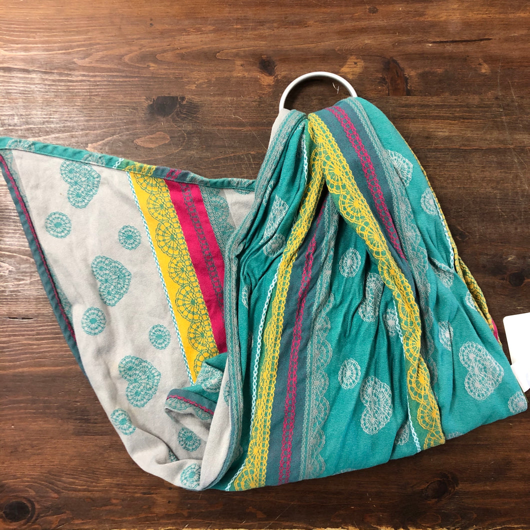 Teal, Pink Yellow Ring Sling