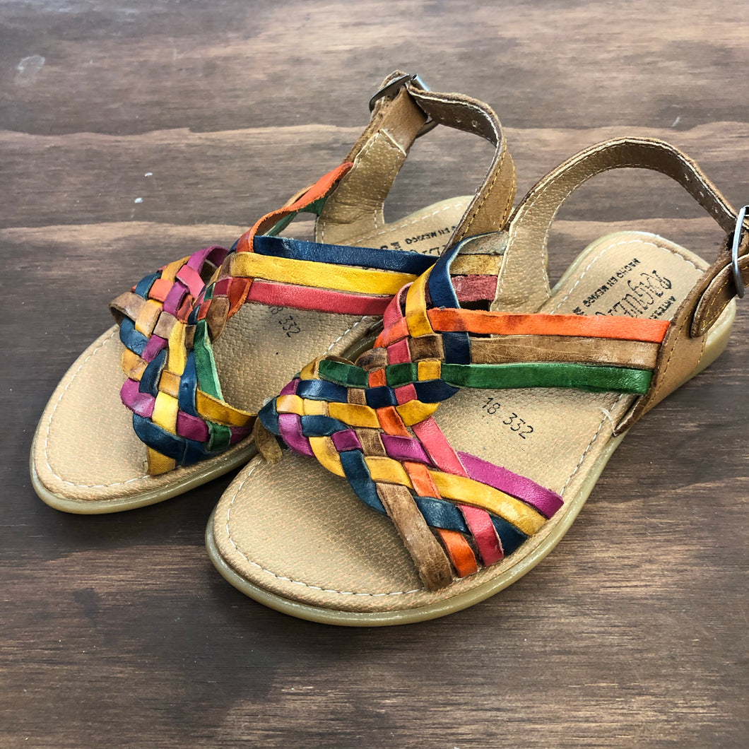 Brown Colorful Sandals