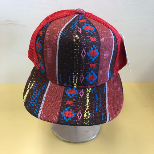 Trucker Hat -Red Aztec