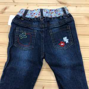 Floral Embroidered Denim