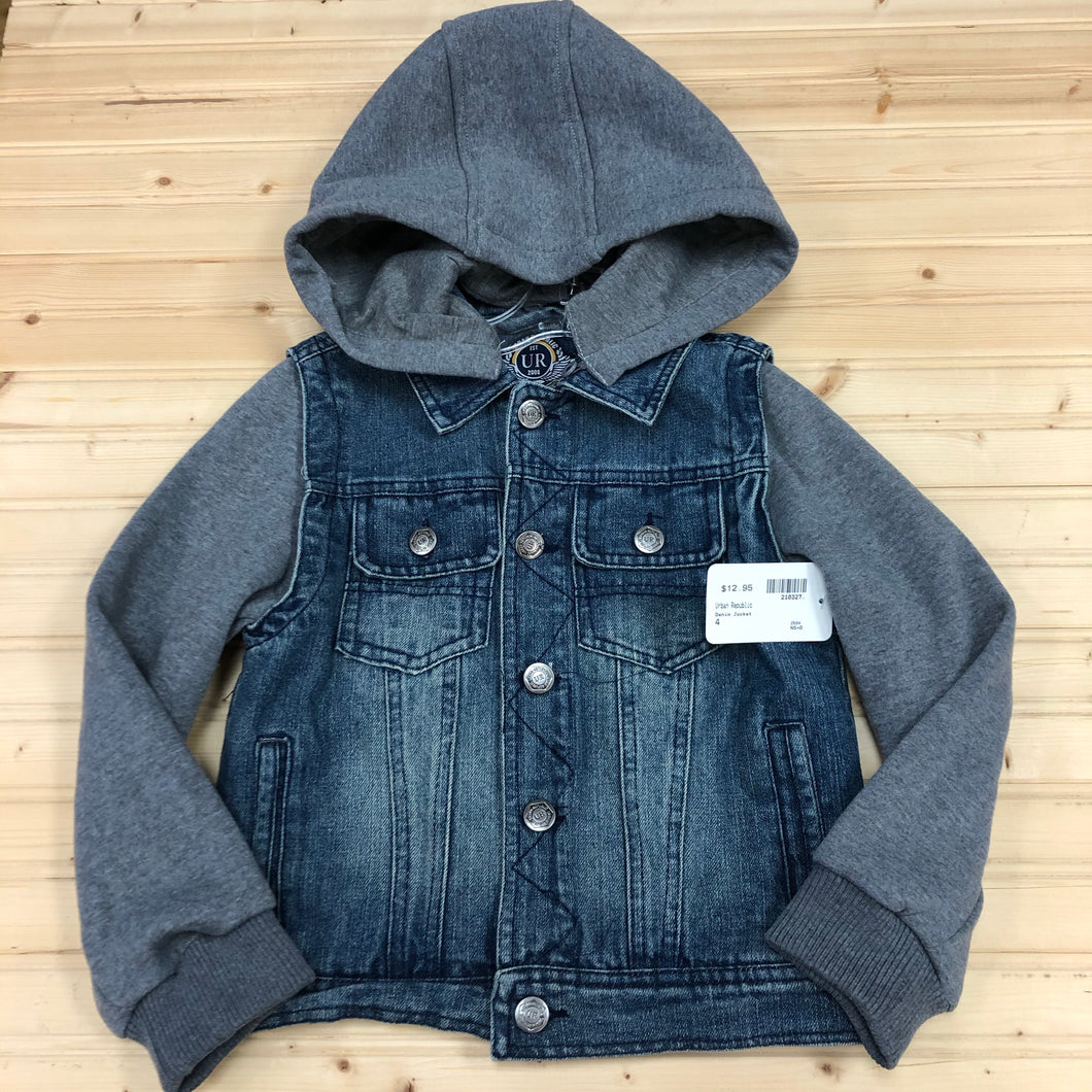 Denim Jacket-Removable Hood