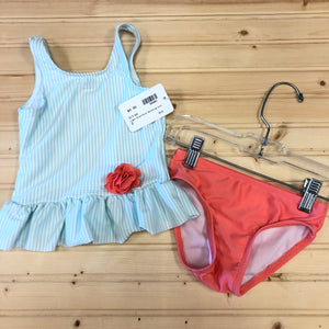 Light Blue/Coral Swimsuit