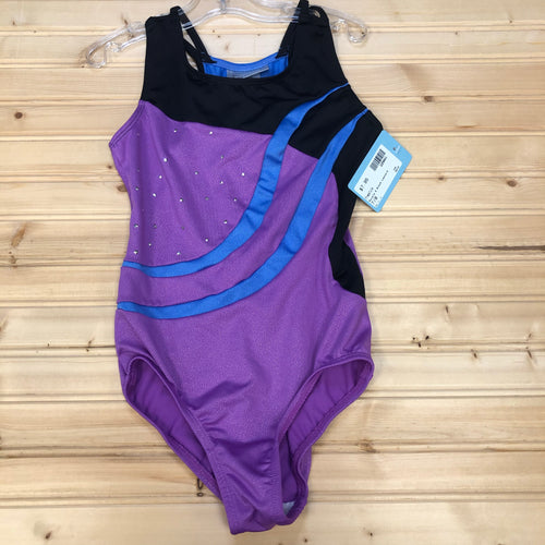 Purple & Black Leotard