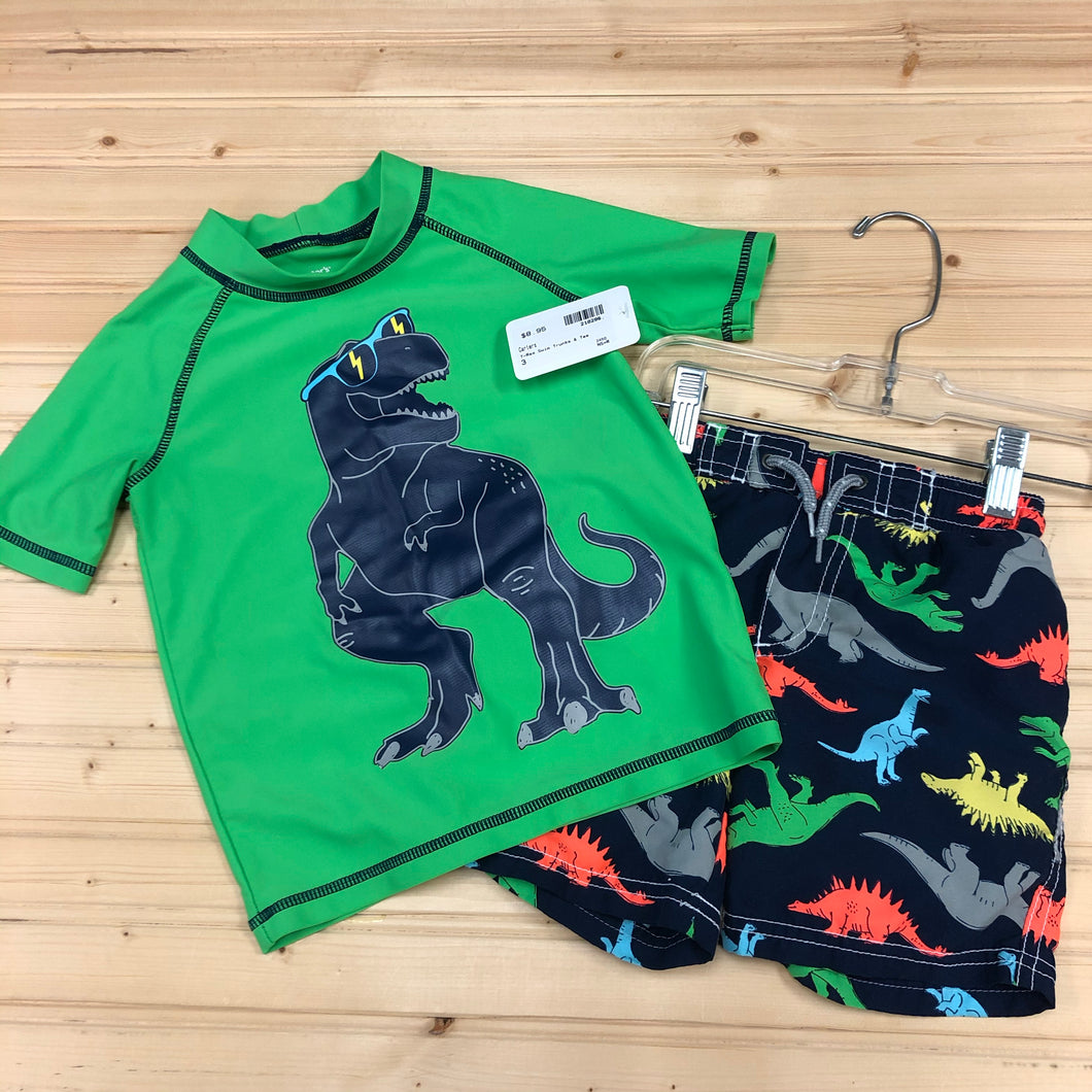 T-Rex Swim Trunks & Tee