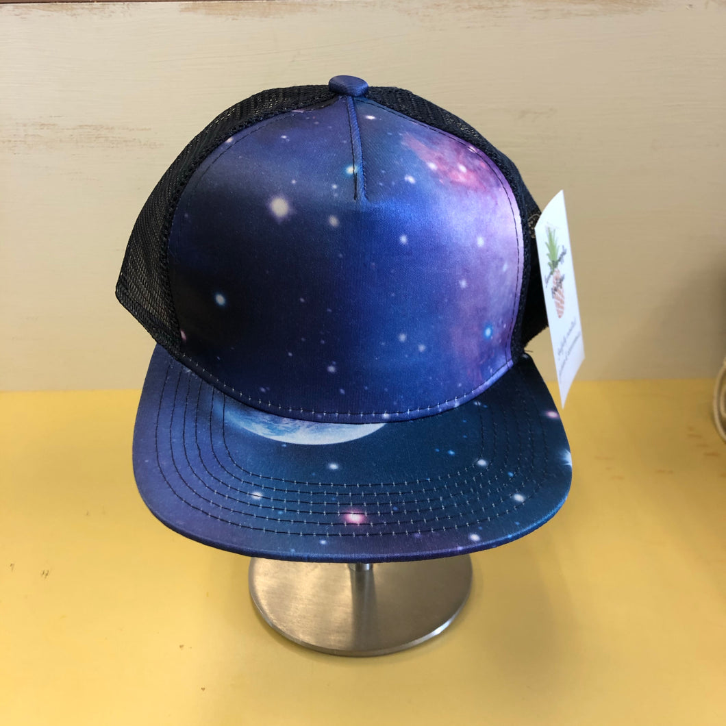 Trucker Hat -Blue Galaxy Full