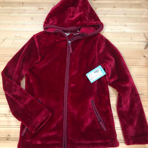 Red Fleece Zip Hoodie