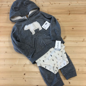Fuzzy Bear 3pc. Outfit NEW