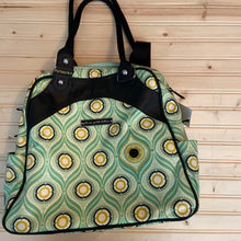 Load image into Gallery viewer, Green Floral Diaper Bag