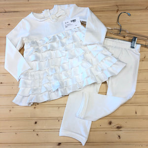 White Ruffle Outfit