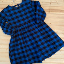Load image into Gallery viewer, Blue & Black Plaid Dress