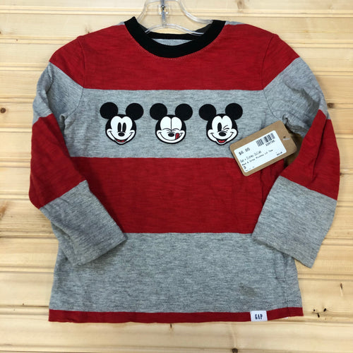 Red & Grey Mickey LS Tee
