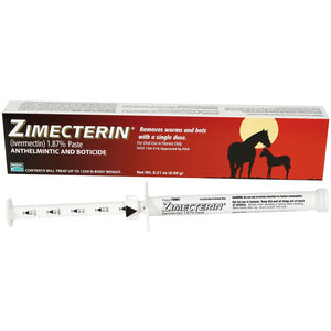 ZIMECTERIN (IVERMECTIN 1.87%) DEWORMER PASTE FOR HORSES 0.21-OZ