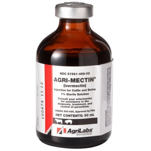50 ml. 1% AGRIMECTIN IVERMECTIN INJECTIBLE.