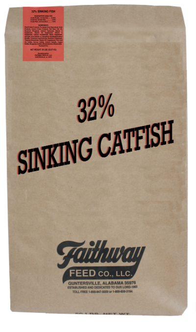 50 lb. SINKING CATFISH FEED