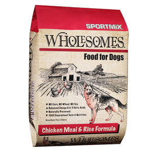 WHOLESOMES CHICKEN & RICE DOG FOOD 40 lbs