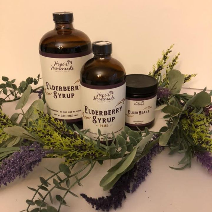 HOPE'S HOMEMADE ELDERBERRY SYRUP 16OZ PLUS