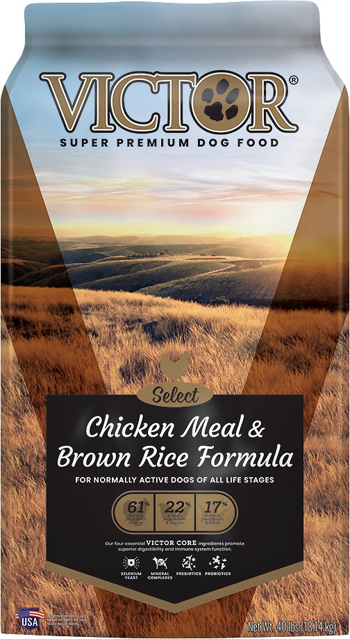 VICTOR CHICKEN & BROWN RICE 40 lbs