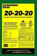 20-20-20 WATER SOLUBLE FERTILIZER 25 lbs
